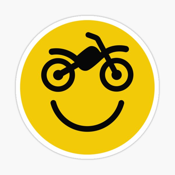 Happy off the road motocross smiley - motorcycle Sticker