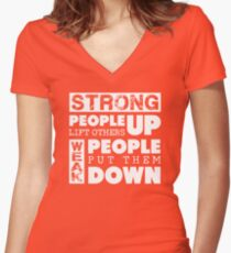Anti-Bullying Stand Up to Bullies Women's Fitted V-Neck T-Shirt