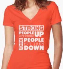 Camiseta entallada de cuello en V Anti-Bullying Levántate a Bullies