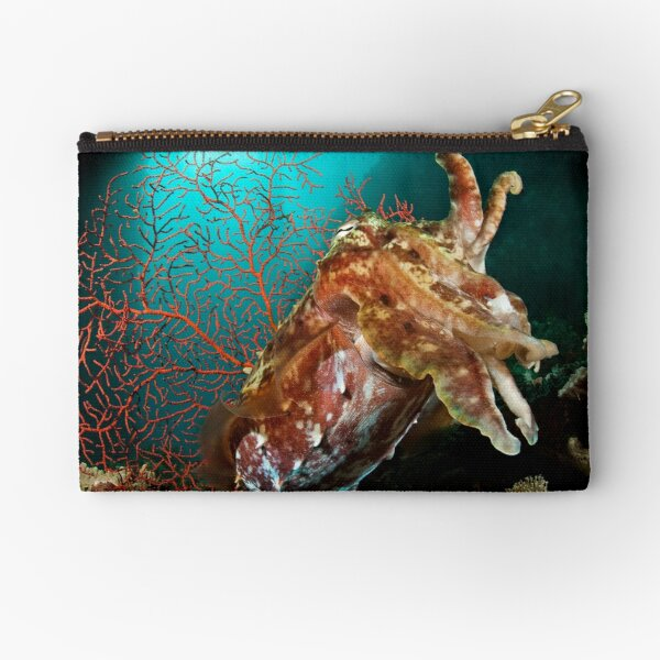 Broadclub Cuttlefish, Papua New Guinea Zipper Pouch