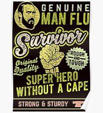 Man Flu Survior Poster