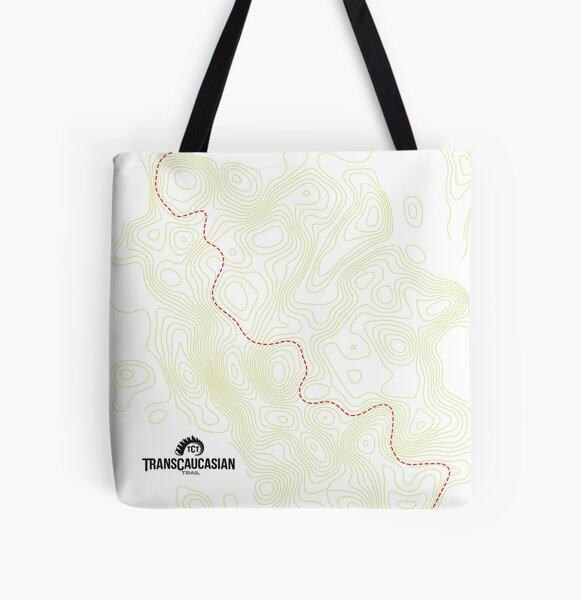TCT Tote Bags: Contour Map All Over Print Tote Bag