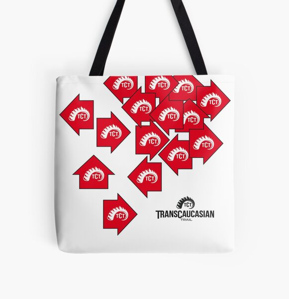 TCT Tote Bags: Scattered Signs All Over Print Tote Bag