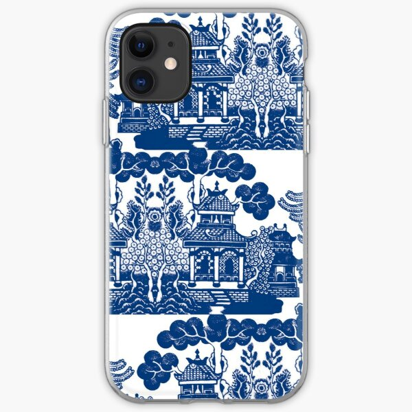 Blue Willow Chinoiserie Blue And White Porcelain Inspiration iPhone Soft Case