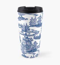 Ming China - Blue And White Chinoiserie Travel Mug