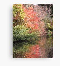 Autumn Red Reflected (Shrewsbury) Canvas Print