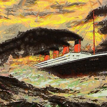 Titanic the Famous Steamship in the Style of the Masters 1912 by ZipaC