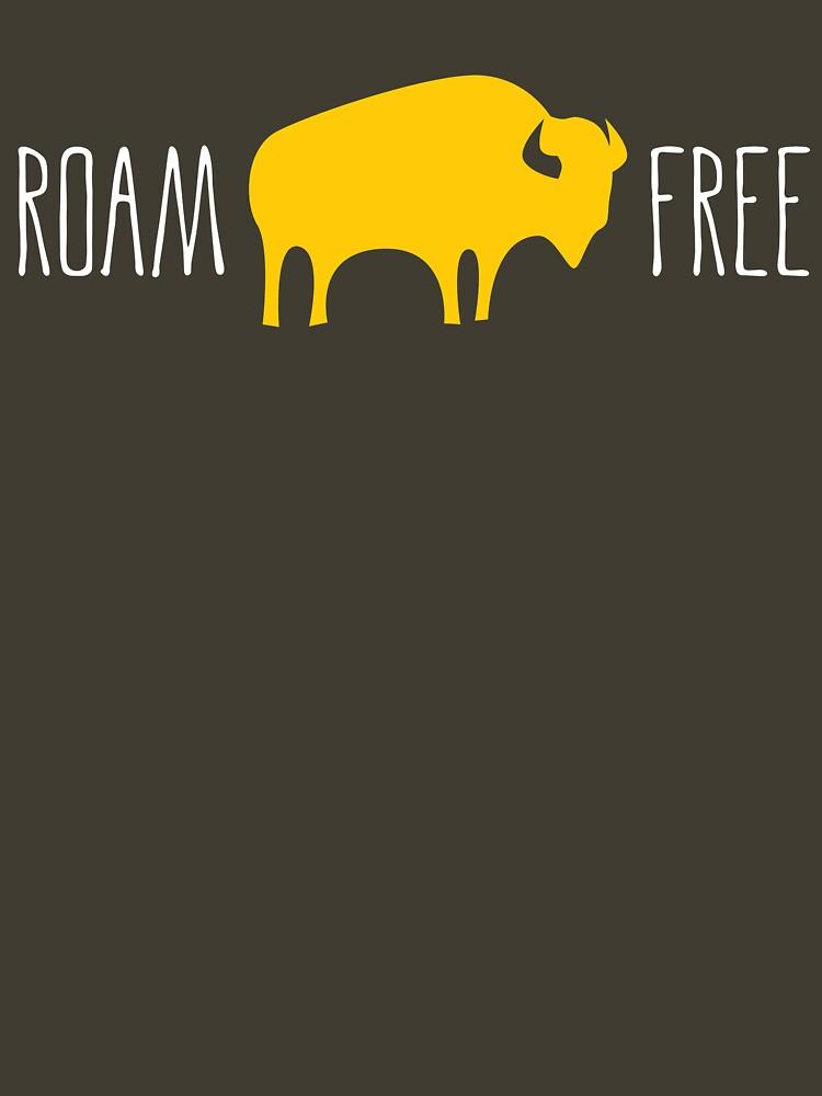 Roam Free Buffalo Bison by DOODL