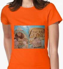 Valentines Day -Happy Lovers Day- Queen Diana & King Dodi in Pyramids - Sunilism Women's Fitted T-Shirt