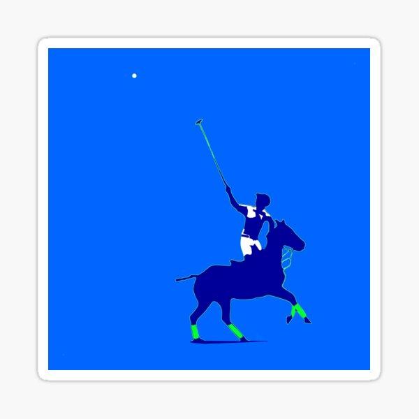 BLUE power polo player Sticker