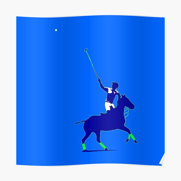 BLUE power poloplayer Poster