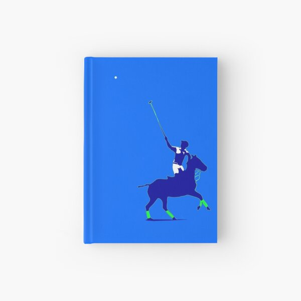 BLUE power polo player Hardcover Journal