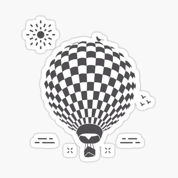 Hot air balloons on the day Pegatina