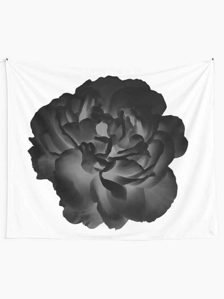 Tapestry Black Peony
