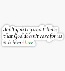 Sam Smith Him Lyrics Sticker