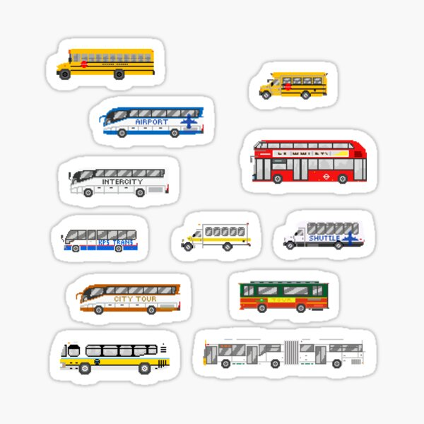 Buses - The Kids' Picture Show Sticker