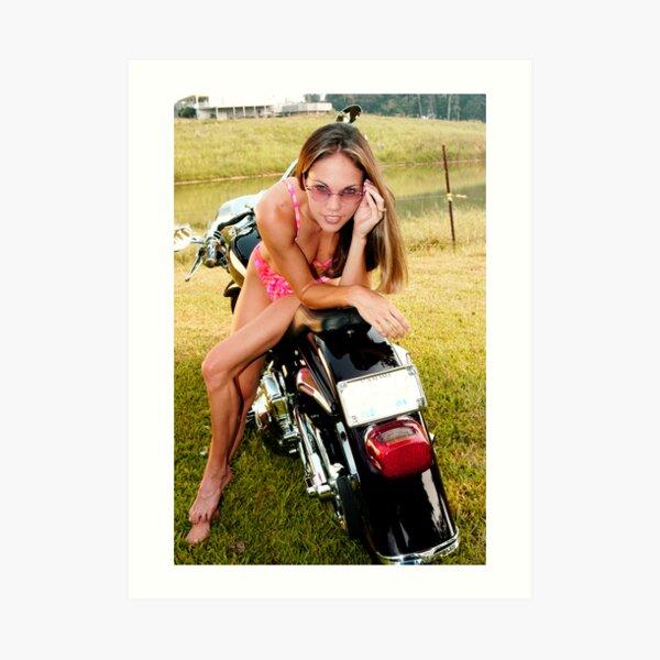 Bikes & Babes Art Print