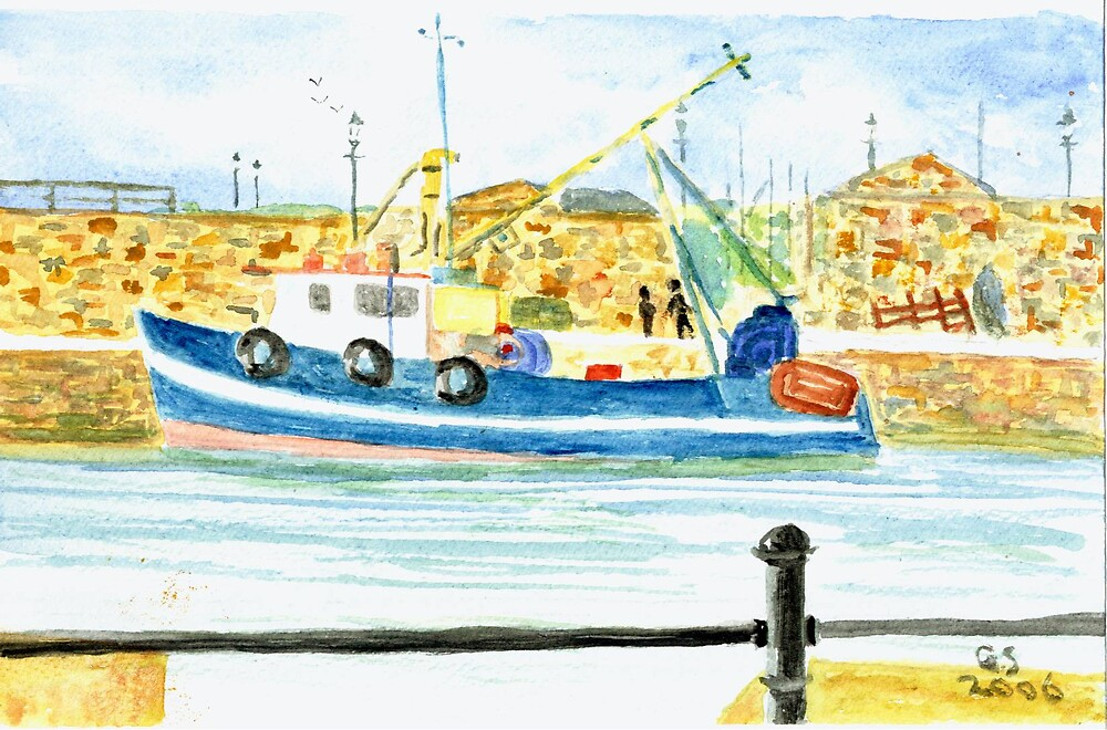 Maryport Harbour by GEORGE SANDERSON