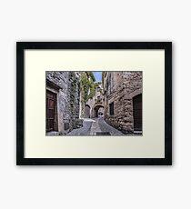 Medieval Village of Pals (Catalonia) Framed Print