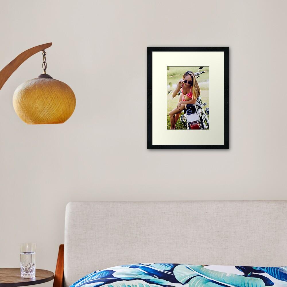 Bikes & Babes Framed Art Print