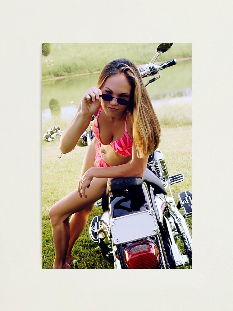 Alternate view of Bikes & Babes Photographic Print
