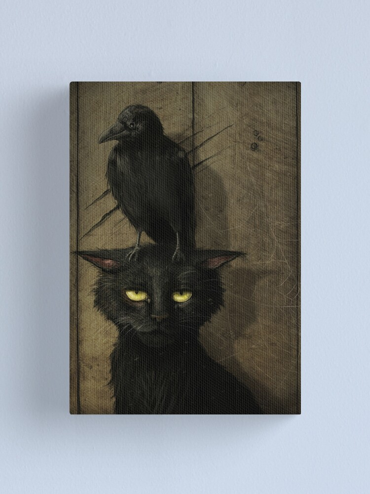 Alternate view of The Raven and the Cat Canvas Print