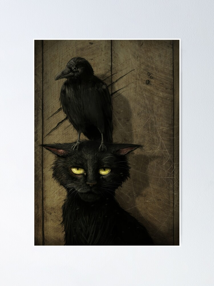 Alternate view of The Raven and the Cat Poster