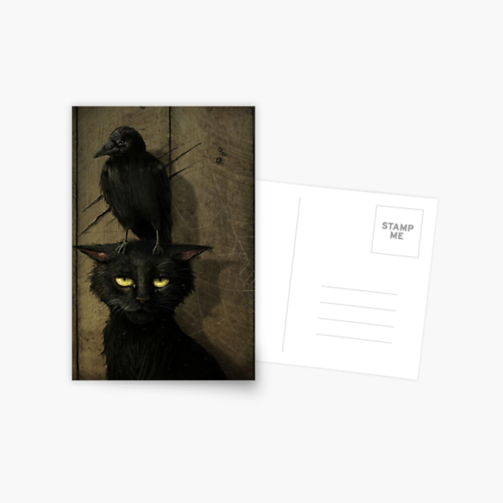 The Raven and the Cat Postcard