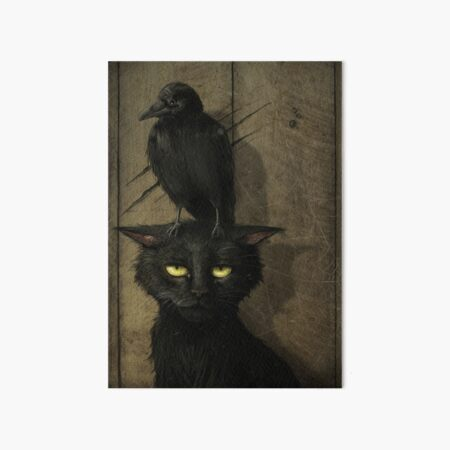The Raven and the Cat Art Board Print