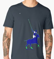 BLUE power poloplayer Männer Premium T-Shirts