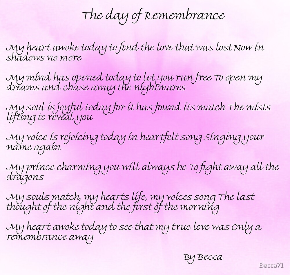 The Day of Remembrance by Becca71