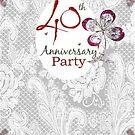 Invitation to Ruby Anniversary by Ann12art