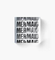 Mermaids (Black) Acrylic Block