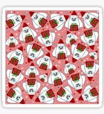 Yeti Xmas pattern Sticker