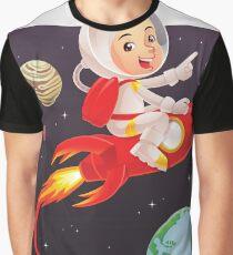 Astronaut Kid Graphic T-Shirt