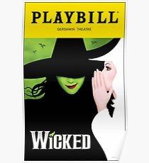 Wicked Playbill Poster