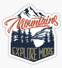 Mountains Explore More Sticker