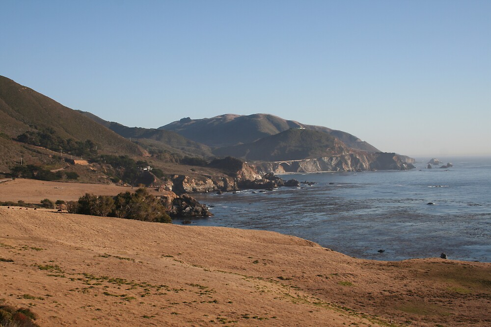 The Pacific from Highway 1 CA by Ilan Cohen