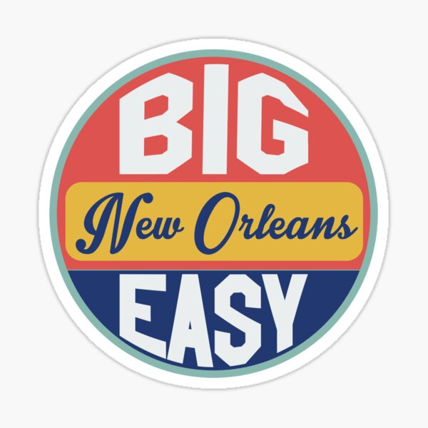 The Big Easy New Orleans | Retro New Orleans  Sticker