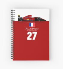 Alain Prost - Ferrari 643 Spiral Notebook