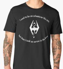 Skyrim Arrow to the knee Men's Premium T-Shirt