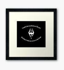 Skyrim Arrow to the knee Framed Print