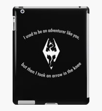 Skyrim Arrow to the knee iPad Case/Skin