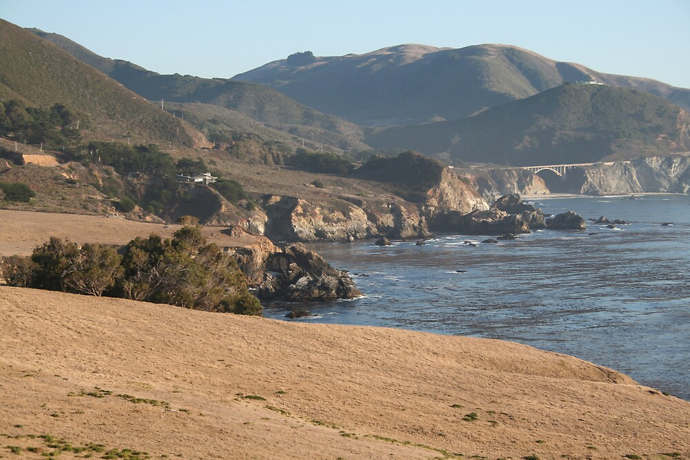 The Pacific from Highway 1 CA - 9 by Ilan Cohen
