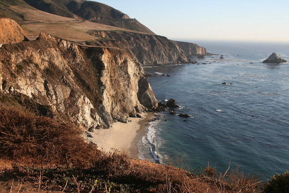 The Pacific from Highway 1 CA - 8 by Ilan Cohen