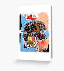 jean michel basquiat Skull poster Greeting Card