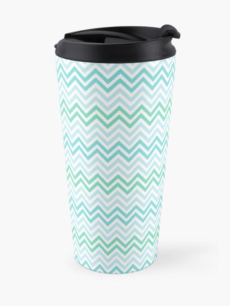 Alternate view of Chevrons Fashion Pattern Design Travel Mug