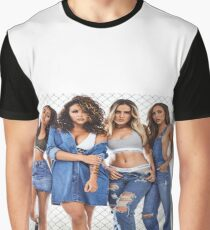 Little Mix in Denim Graphic T-Shirt