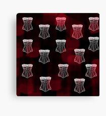 Corset pattern Canvas Print