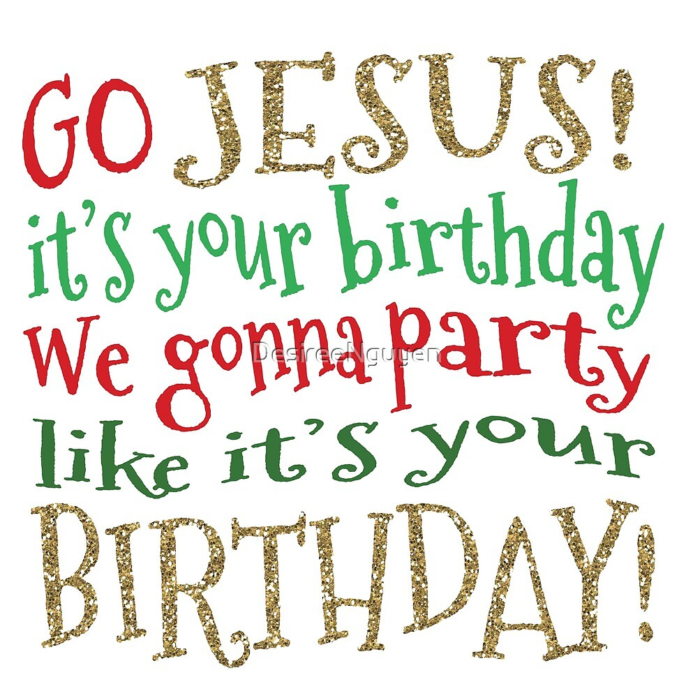 Go Jesus! It\'s Your Birthday! Matching Christmas Family PJs\